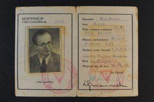 אישור אסיר פוליטי מאיר בוסאק 1948