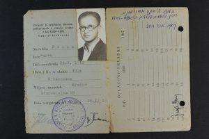 תעודה של ארגון אסירי מחנות מאיר בוסאק 1948