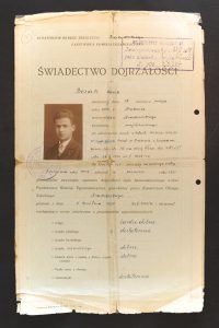 תעודה מאוניברסיטת וורשה 1931